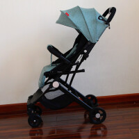 婴儿推车高景观超轻便折叠便携宝宝可坐躺小上飞机口袋伞车 灰绿色-带拉杆 带礼包 2.25发