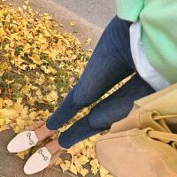 新款春秋潮妈牛仔裤修身显瘦冬季外穿打底裤女秋冬装孕妇裤子