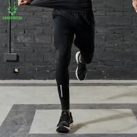 【限时抢购价】范斯蒂克 男士春夏紧身跑步健身长裤四级固色弹力MBF9031