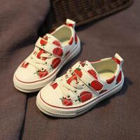 儿童帆布鞋女童夏季单鞋幼儿园布鞋球鞋1-7岁大童
