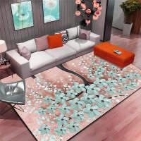 北欧黑白简约现代门垫客厅茶几沙发地毯卧室床边垫长方形地垫k