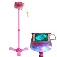 小孩麦克风 儿童麦克风扩音音乐话筒玩具 带支架扩音卡拉OK唱歌玩具话筒
