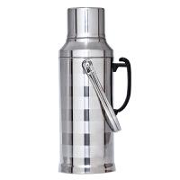 不锈钢外壳热水瓶家用暖壶玻璃内胆保温水瓶3.2L大容量茶瓶温水壶
