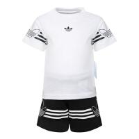 adidas Originals阿迪三叶草2019男婴童OUTLINE TEE SET短袖套服DV2833