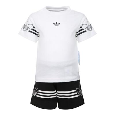 adidas Originals阿迪三叶草2019男婴童OUTLINE TEE SET短袖套服DV2833 秋装尚新 潮品来袭 正品保证