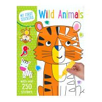 My First Stickers Wild Animals 启蒙认知野生动物贴纸活动书 英文原版进口 贴纸书4-5岁