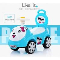宝宝玩具车1-3岁婴幼儿童带音乐护栏可坐四轮滑行手推溜溜扭扭车