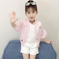 女童防晒衣夏款2019新款儿童薄款长袖外套小女孩防紫外线空调衫潮
