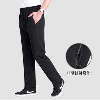 爸爸裤子秋季男士休闲裤中年男中老年人外穿男宽松加肥长裤运动裤