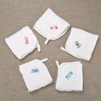 儿童棉小方巾幼儿棉纱巾宝宝口水巾婴儿纱布毛巾洗脸巾