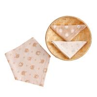 宝宝三角巾棉按扣头巾儿童围嘴婴儿口水巾三角巾棉