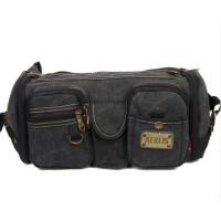新款男包登山包 便携休闲包运动腰包大容量帆布包时尚街包
