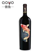 傲鱼AOYO智利原瓶原装进口红酒 赤霞珠干红葡萄酒2018年1500ml*1