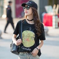 夏季新品棉印花时尚韩版女装t恤衫 韩板女装上衣