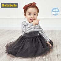 巴拉巴拉公主裙女童连衣裙洋气婴儿裙子宝宝周岁衣服2019新款纱裙