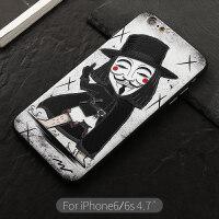 �O果iphone6plus手�C�ぬ琢�p��性��意潮牌6s卡通新款潮男全包防摔6p英雄男
