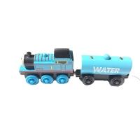 托马斯小火车磁铁 儿童早教托马斯小火车耐摔轨道木质配件大冒险实木磁铁玩具