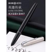 【买三送一】经典款老式616英雄牌钢笔复古练字学生专用礼物*暗尖铱金笔尖墨囊可替换书法女士高档精致正