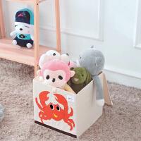 卡通玩具收�{箱 �和�衣物�ξ锵� �s物整理箱 布�可折�B收�{盒子 加�w收�{箱 �和�玩具收�{盒
