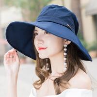 遮阳帽子女夏天韩版春秋防晒帽可折叠凉帽出游大沿太阳帽