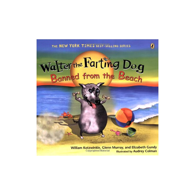 Walter the Farting Dog: Banned from the Beach William Kotzwinkle 9780142413944 全新正版进口图书