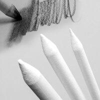 柏伦斯3支装纸笔素描速写套装擦笔绘画专用纸擦笔宣纸修正笔涂抹笔卷纸擦笔美术画材用品
