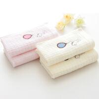 儿童毛巾纯棉小胖熊宝宝童巾婴儿小毛巾面巾4条洗脸帕