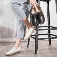 玛菲玛图真皮小白鞋女春秋季2019新款学院英伦风百搭女鞋学生平底板鞋单鞋3982-1W