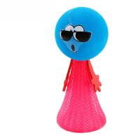 弹跳小人 可爱小孩创意新奇表情娃娃塑料整蛊小人玩偶好玩儿童玩具礼物 小号粉色 2g
