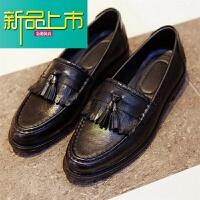 新品上市真皮豆豆鞋雕花英伦男鞋时尚低帮套脚懒人鞋皮鞋单鞋子