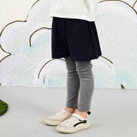【秒杀价:119元】马拉丁童装女大童裤子春装2020年新款针织长裤裙裤儿童打底裤