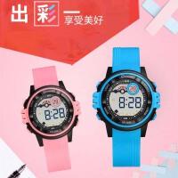 电子表女学生夜光韩版简约数字式儿童手表女防水可爱电子表