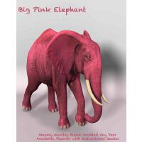 【预订】Big Pink Elephant Weekly Monthly Blank Undated Any Year