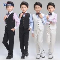 宝宝主持人表演服男童小西装套装儿童礼服男婚礼花童钢琴演出服