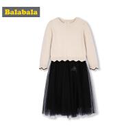 巴拉巴拉女童连衣裙秋冬宝宝洋气裙子儿童甜美