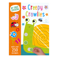 My First Stickers Creepy Crawlies 启蒙贴纸手工活动书 昆虫 益智有趣 超过250张贴