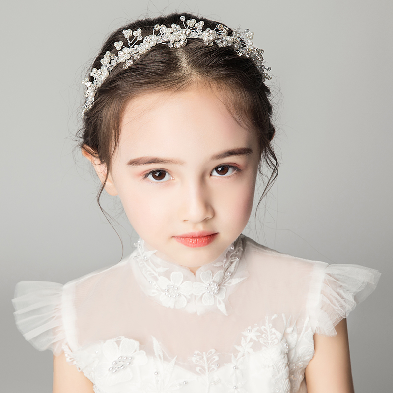 女童头饰儿童发箍女孩饰品礼服配饰头花花童皇冠