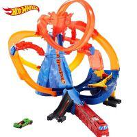 风火轮新品城市电动系列火山主题挑战赛道轨道车儿童玩具FTD61