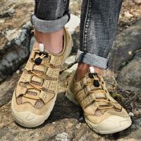 户外休闲鞋男舒适夏季运动登山鞋男士透气网鞋轻便徒步鞋