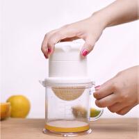 石榴橙汁榨汁机手动迷你榨汁机家用水果柠檬榨汁器简易原味压汁器