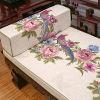 中式实木沙发垫套古典实木家具坐垫防滑定做圈椅垫罗汉床垫子k