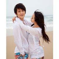 加大码防晒衣 沙滩透气透明防晒服 时尚长袖情侣沙滩衣短外套