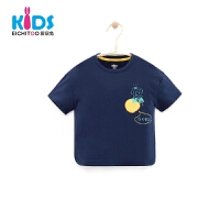 爱居兔童装2018夏季印花男小童短袖T恤