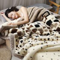 珊瑚毛绒毯子冬季用加厚法兰绒毛毯拉舍尔加绒床单人保暖被子双层k