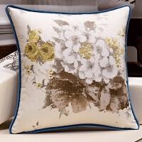 中式提花沙发抱枕靠垫含芯1076现代简约客厅家用靠枕枕套大靠背