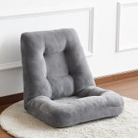 床上椅靠背 多功能布艺床上懒人沙发单人飘窗榻榻米网咖电脑无腿可调节折叠椅