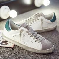 做旧小脏鞋女201新品脏脏鞋小白鞋百搭韩版复古平底白色板鞋