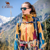 camel骆驼户外冲锋衣 时尚拼色 男女秋冬三合一两件套