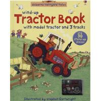 现货 英文原版Wind-up Tractor 上发条的拖拉机 Usborne亲子系列 彩虹气球 轨道书 玩具书 大开本