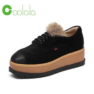 红蜻蜓旗下品牌COOLALA女鞋秋冬休闲鞋板鞋女鞋子HFB6008